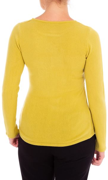 Anna Rose Cable Design Knit Top Lime - Gallery Image 2