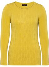 Anna Rose Cable Design Knit Top Lime - Gallery Image 3