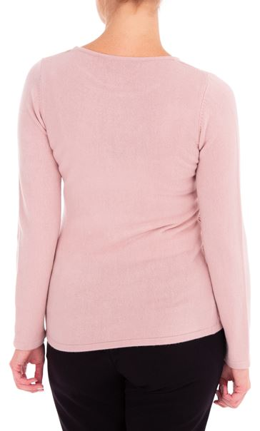 Anna Rose Cable Design Knit Top Dusty Pink - Gallery Image 3