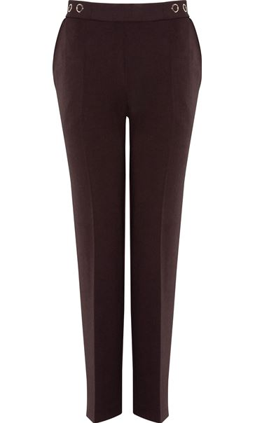 Anna Rose 29 Inch Straight Leg Trousers - Chocolate