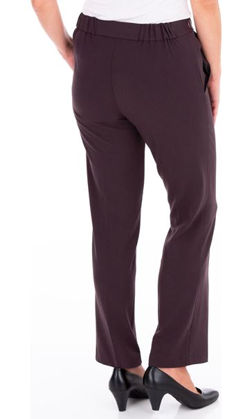 Anna Rose 29 Inch Straight Leg Trousers Chocolate - Gallery Image 3