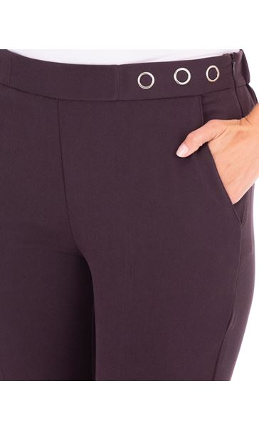 Anna Rose 29 Inch Straight Leg Trousers Chocolate - Gallery Image 4
