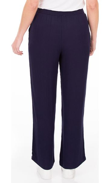 Anna Rose Embellished Wide leg Trousers Navy - Gallery Image 2