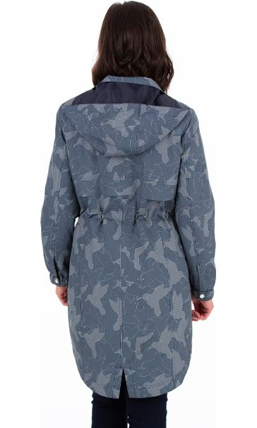 Printed Lightweight Coat Navy - Gallery Image 2