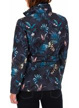 Anna Rose Floral Print Quilt Coat Blue Palm - Gallery Image 2