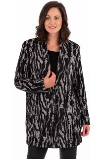 Zebra Print Knitted Jacket