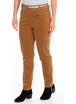 Slim Leg Belted Cord Trousers