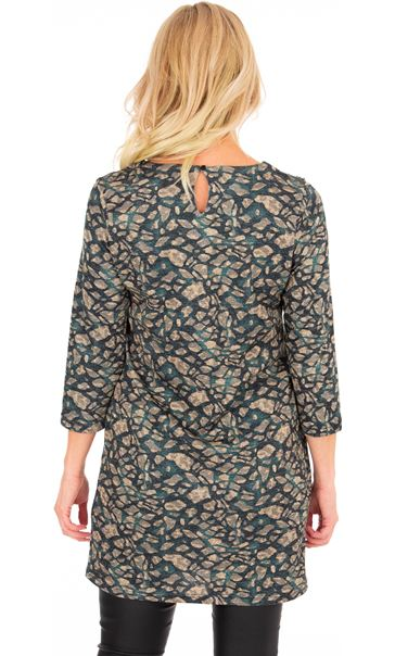 Printed Knit Dress Spruce - Gallery Image 2