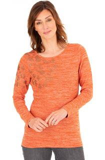 Embellished Lightweight Knit Top