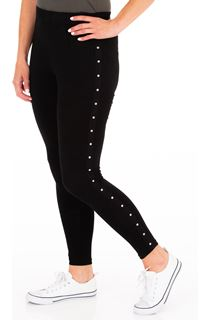 Full Length Studded Jersey Leggings