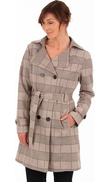 Checked Belted Mac