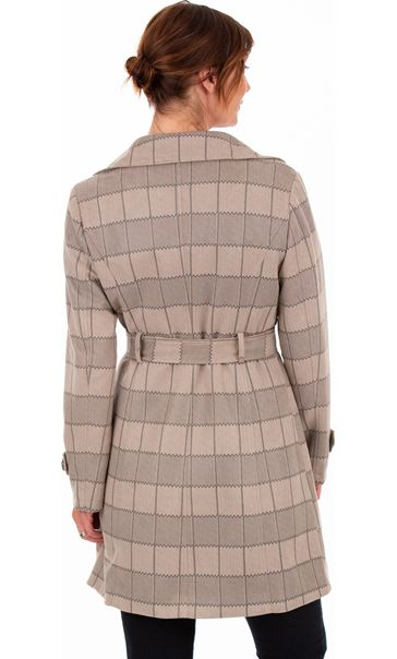 Checked Belted Mac Nat Check - Gallery Image 3