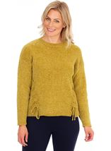 Long Sleeve Lurex Chenille Knit Top