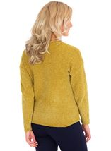 Long Sleeve Lurex Chenille Knit Top Lime - Gallery Image 2