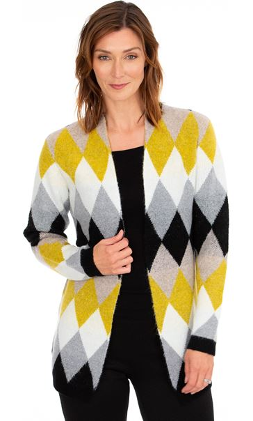 Diamond Knit Open Cardigan