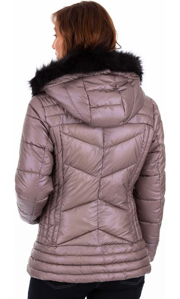 Pearlized Puffa Coat Rose - Gallery Image 2