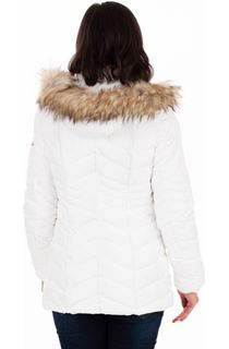 Faux Fur Trimmed Puffa Coat