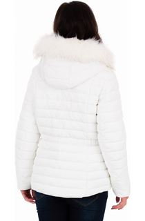 Diamante Trim Zip Hooded Coat