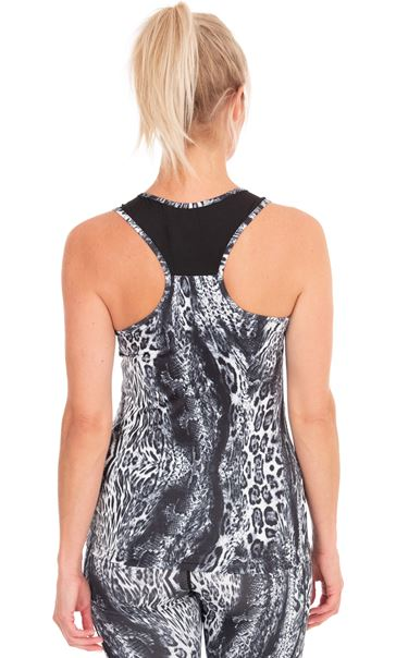 Animal Print Racer Back Gym Top