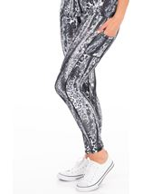 Animal Printed Cropped Gym Leggings