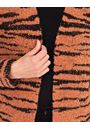 Tiger Design Open Knit Cardigan Black/Rust - Gallery Image 3