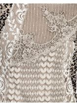 Layered Long Sleeve Lace Tunic Beige - Gallery Image 3