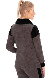 Cowl Neck Long Sleeve Sports Top