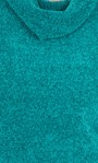 Cowl Neck Long Sleeve Chenille Top Emerald - Gallery Image 3