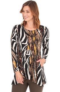 Long Sleeve Animal Print Jersey Tunic