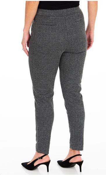 Pull On Tapered Trousers Black - Gallery Image 2