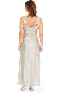 Metallic Cowl Back Maxi Dress