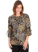 Animal Printed Jersey Tunic
