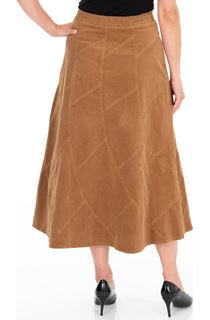 Panelled Cord Maxi Skirt