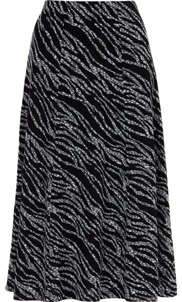 Anna Rose Animal Print Midi Skirt Black/Grey - Gallery Image 3