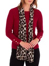 Anna Rose Knit Top With Scarf Merlot - Gallery Image 1