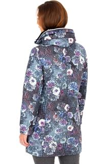 Floral Print Zip Up Coat