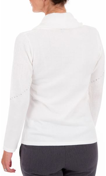 Anna Rose Cowl Neck Knit Top - Ivory