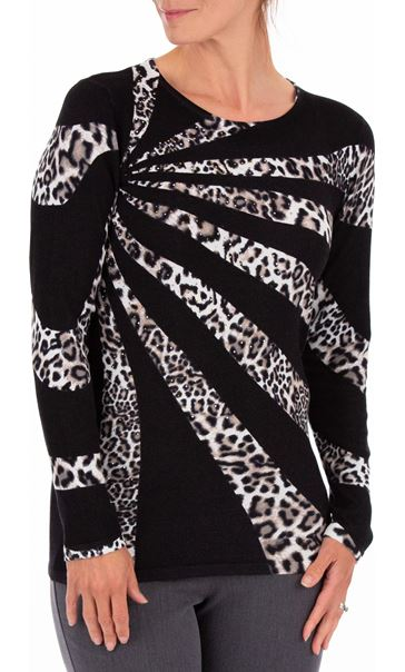 Anna Rose Leopard Print Knit Top