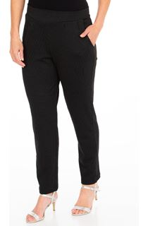 Tapered Textured Pull On Trousers
