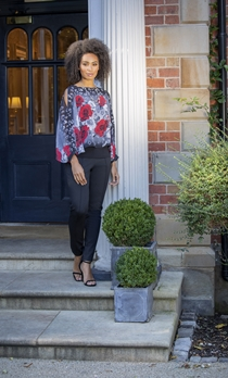 Floral Chiffon Layered Top