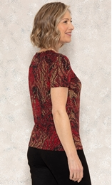 Anna Rose Printed Jersey Top Multi - Gallery Image 2