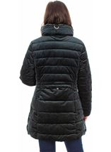 Zip Puffa Coat Green - Gallery Image 2