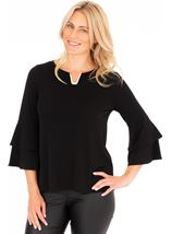 Bell Sleeve Stretch Top