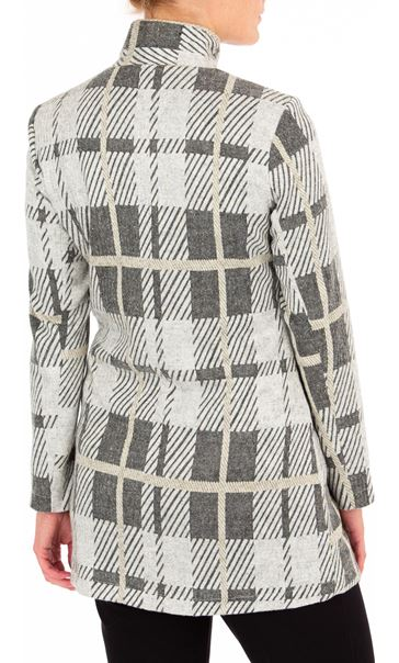 Anna Rose Check Button Coat