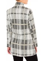 Anna Rose Check Button Coat Grey/Gold - Gallery Image 2