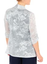 Anna Rose Shimmer Top With Necklace Silver - Gallery Image 3