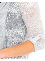 Anna Rose Shimmer Top With Necklace Silver - Gallery Image 4