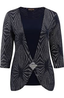 Anna Rose Shimmer layered Top - Blue