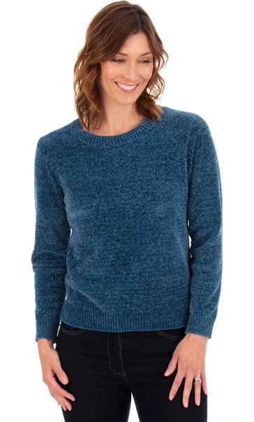 Long Sleeve Chenille Top Kingfisher