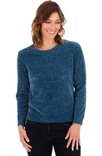 Long Sleeve Chenille Top - Kingfisher
